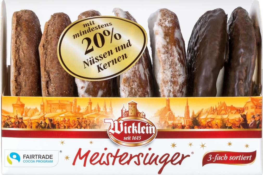 Abbildung des Sortimentsartikels Wicklein Meistersinger Lebkuchen 3-fach sortiert 200g