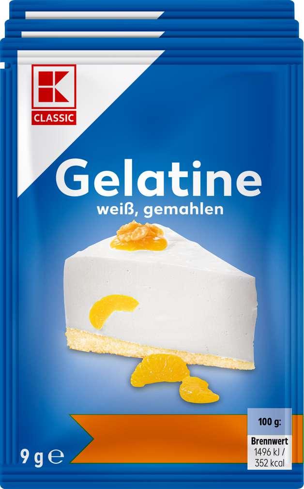 Abbildung des Sortimentsartikels K-Classic Gelatine weiß, gemahlen 3x9g