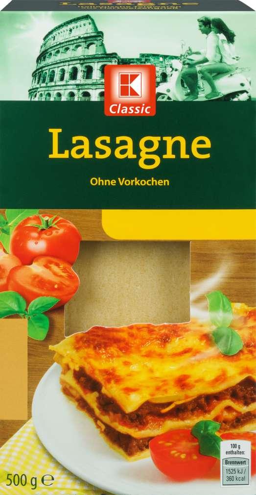 Abbildung des Sortimentsartikels K-Classic Lasagne 500g