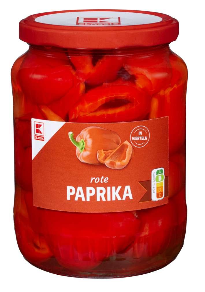 Abbildung des Sortimentsartikels K-Classic Tomatenpaprika geviertelt 650g