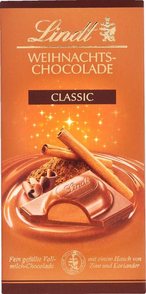 Abbildung des Sortimentsartikels Lindt Weihnachts-Chocolade Classic 100g