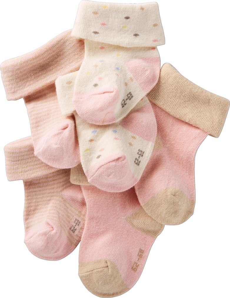 Abbildung des Sortimentsartikels Kuniboo Baby Socken mit Umschlagbund Gr. 50/56 - 98/104 3 Paar