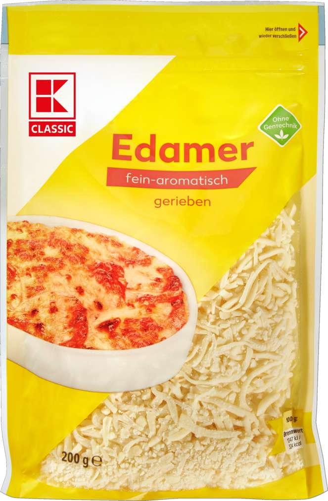 Abbildung des Sortimentsartikels K-Classic Edamer, geraspelt 40% Fett i.Tr. 200g