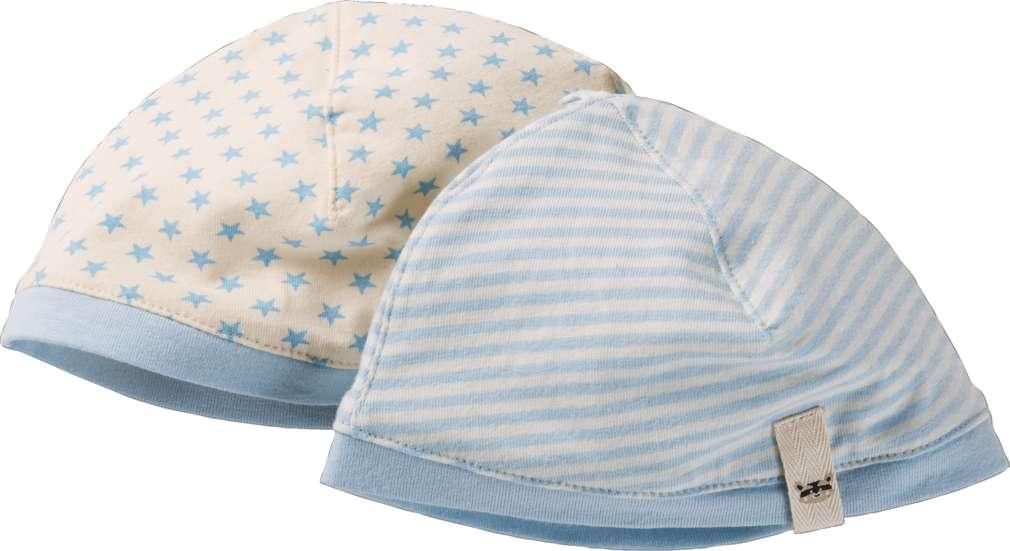 Abbildung des Sortimentsartikels Kuniboo Jungen Baby Mütze Größe 50-68 - 98/104 1 Packung