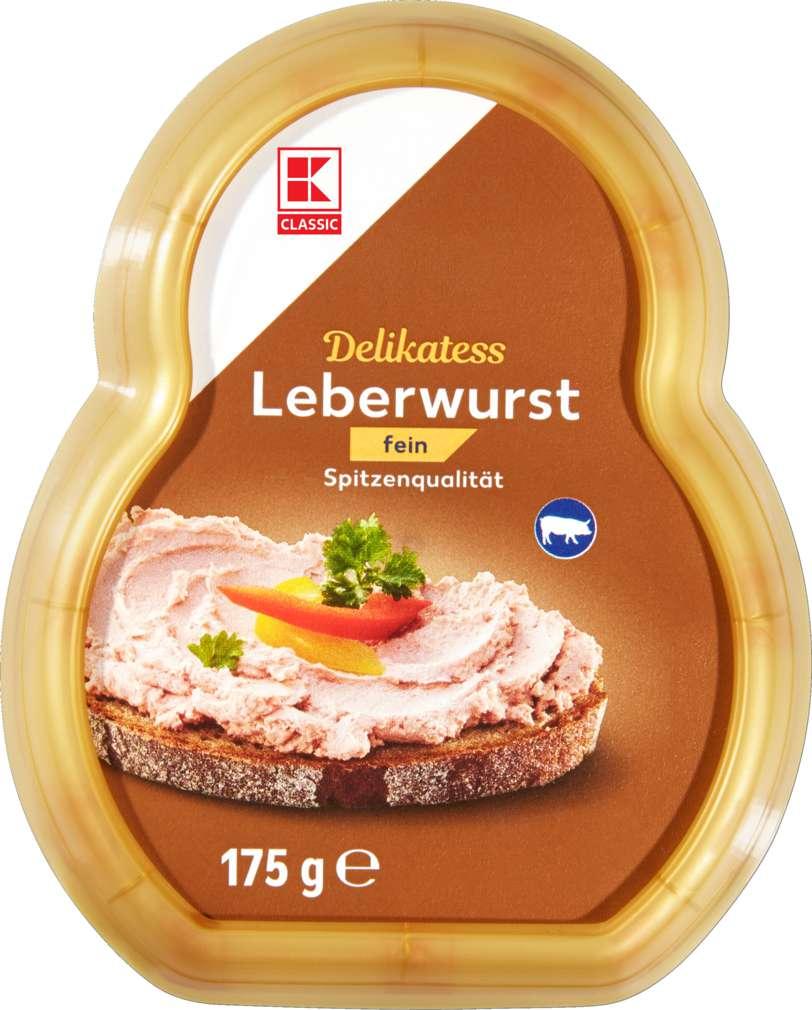 Abbildung des Sortimentsartikels K-Classic Leberwurst fein 175g