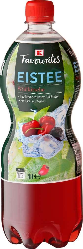 Abbildung des Sortimentsartikels K-Favourites Eistee Wildkirsche 1,0l