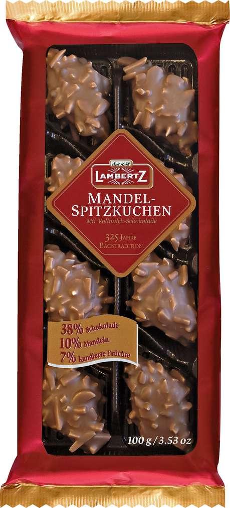 Abbildung des Sortimentsartikels Lambertz Mandel-Spitzkuchen 100g