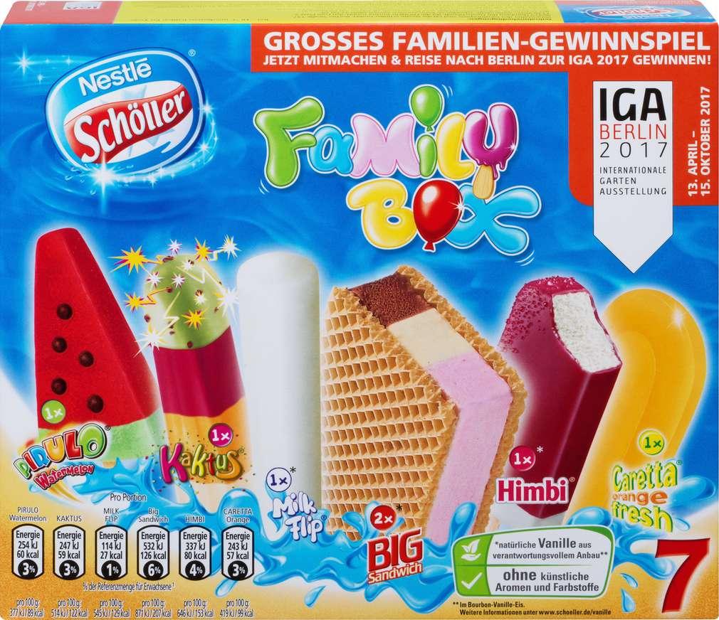 Abbildung des Sortimentsartikels Nestlé Schöller Family Box 7 Stück 538ml