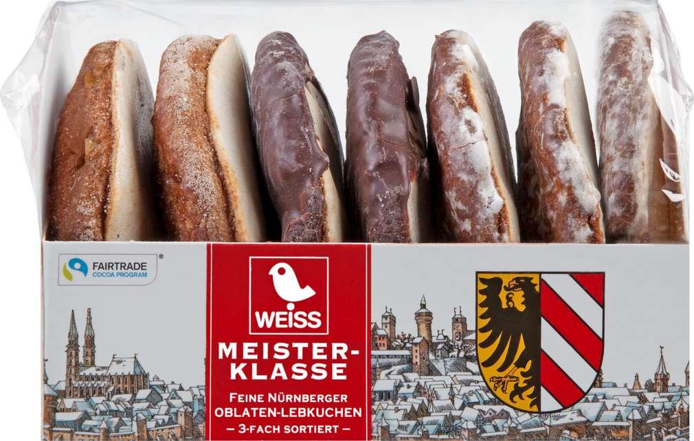 Abbildung des Sortimentsartikels Weiss Nürnberger Oblaten-Lebkuchen 200g