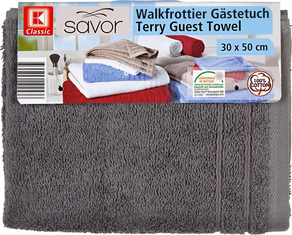 Abbildung des Sortimentsartikels Liv & Bo Gästetuch Grau ca. 30x50 cm