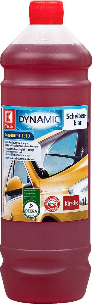 Abbildung des Sortimentsartikels K-Classic Dynamic Scheibenklar Konzentrat Kirsche 1l