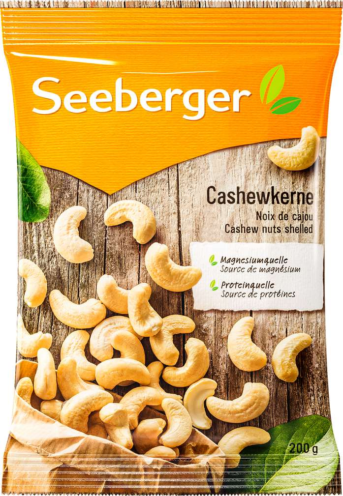 Abbildung des Sortimentsartikels Seeberger Cashewkerne 200g