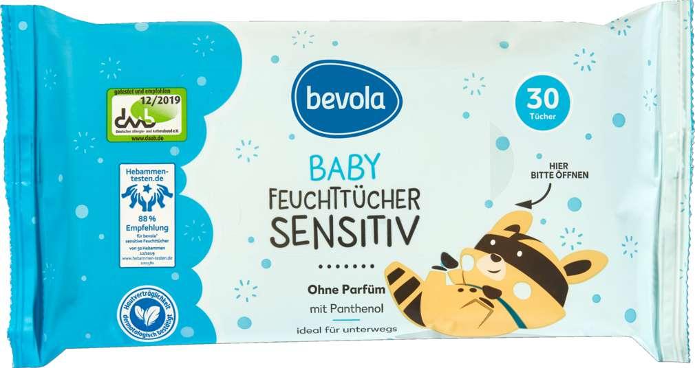 Abbildung des Sortimentsartikels Bevola Baby Feuchttücher Sensitiv 30 Stück