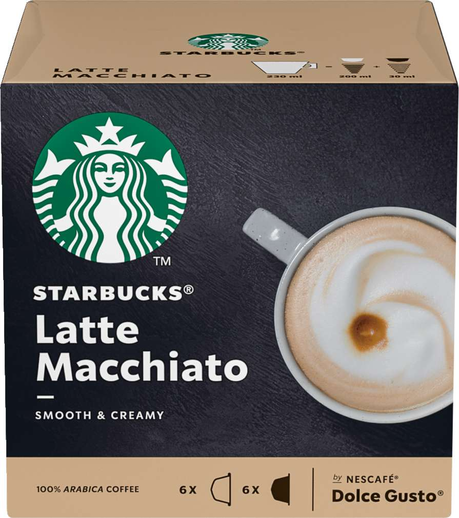 Abbildung des Sortimentsartikels Starbucks® by NESCAFÉ® Dolce Gusto® Latte Macchiato 2x6=129g