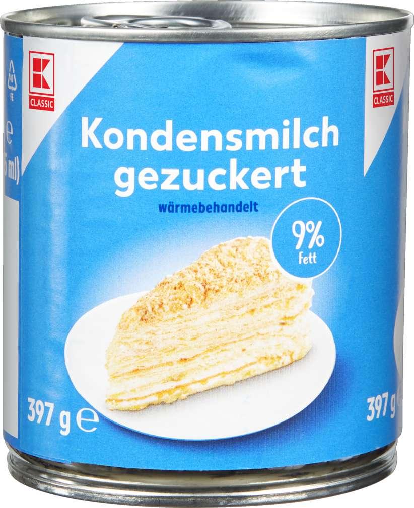 Abbildung des Sortimentsartikels K-Classic Kondensmilch gezuckert 9% 305ml