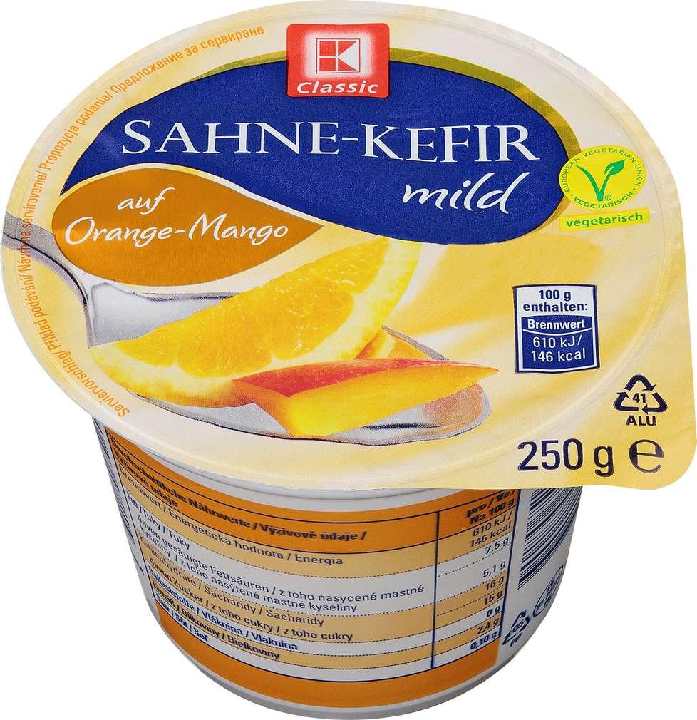 Abbildung des Sortimentsartikels K-Classic Sahne-Kefir mild auf Orange-Mango 250g