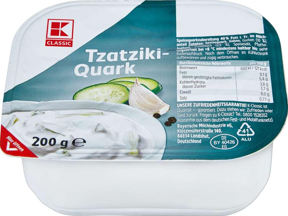 Abbildung des Sortimentsartikels K-Classic Tzatzikiquark 40% Fett i.Tr. 200g