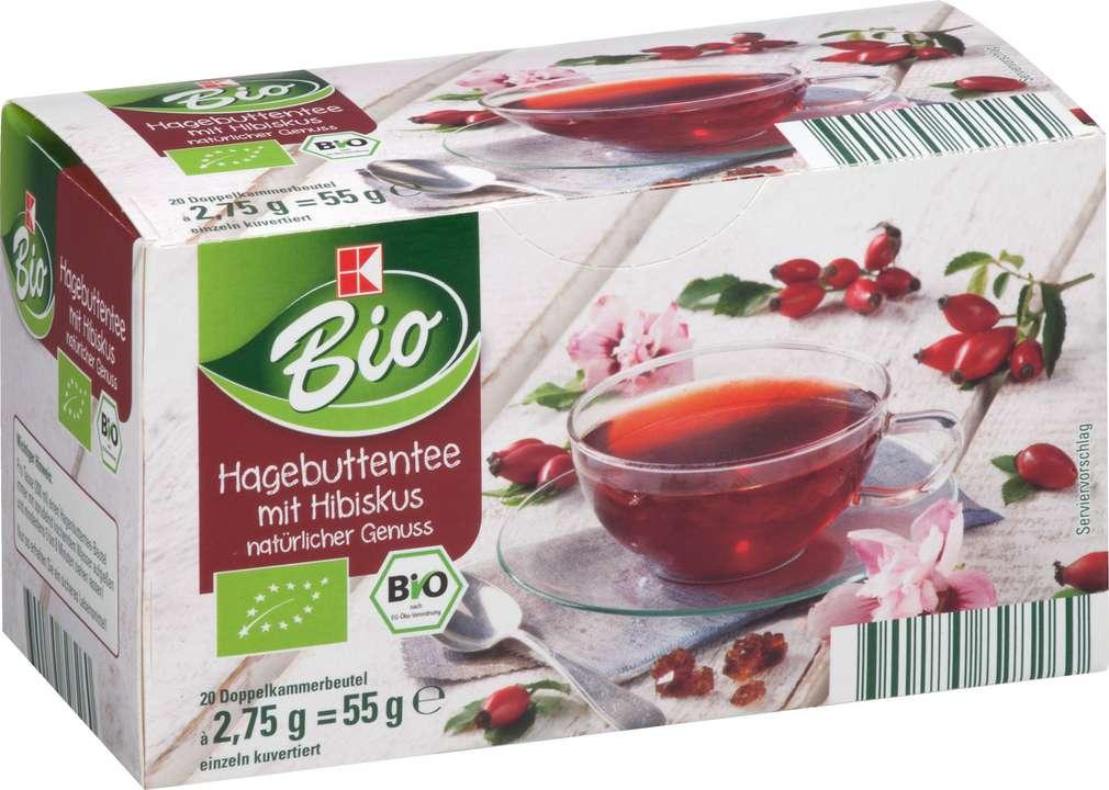 Abbildung des Sortimentsartikels K-Bio Hagebutten Tee mit Hibiskus 20x2,75g