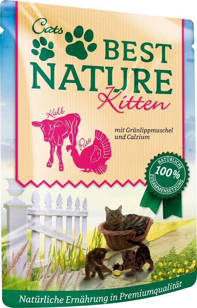 Abbildung des Sortimentsartikels Best Nature Kitten Katzennahrung Pute/Kalb 85g