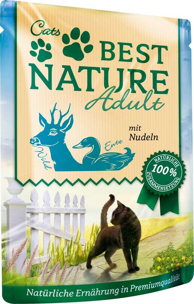 Abbildung des Sortimentsartikels Best Nature Katzennahrung Wild/Ente/Nudel 85g