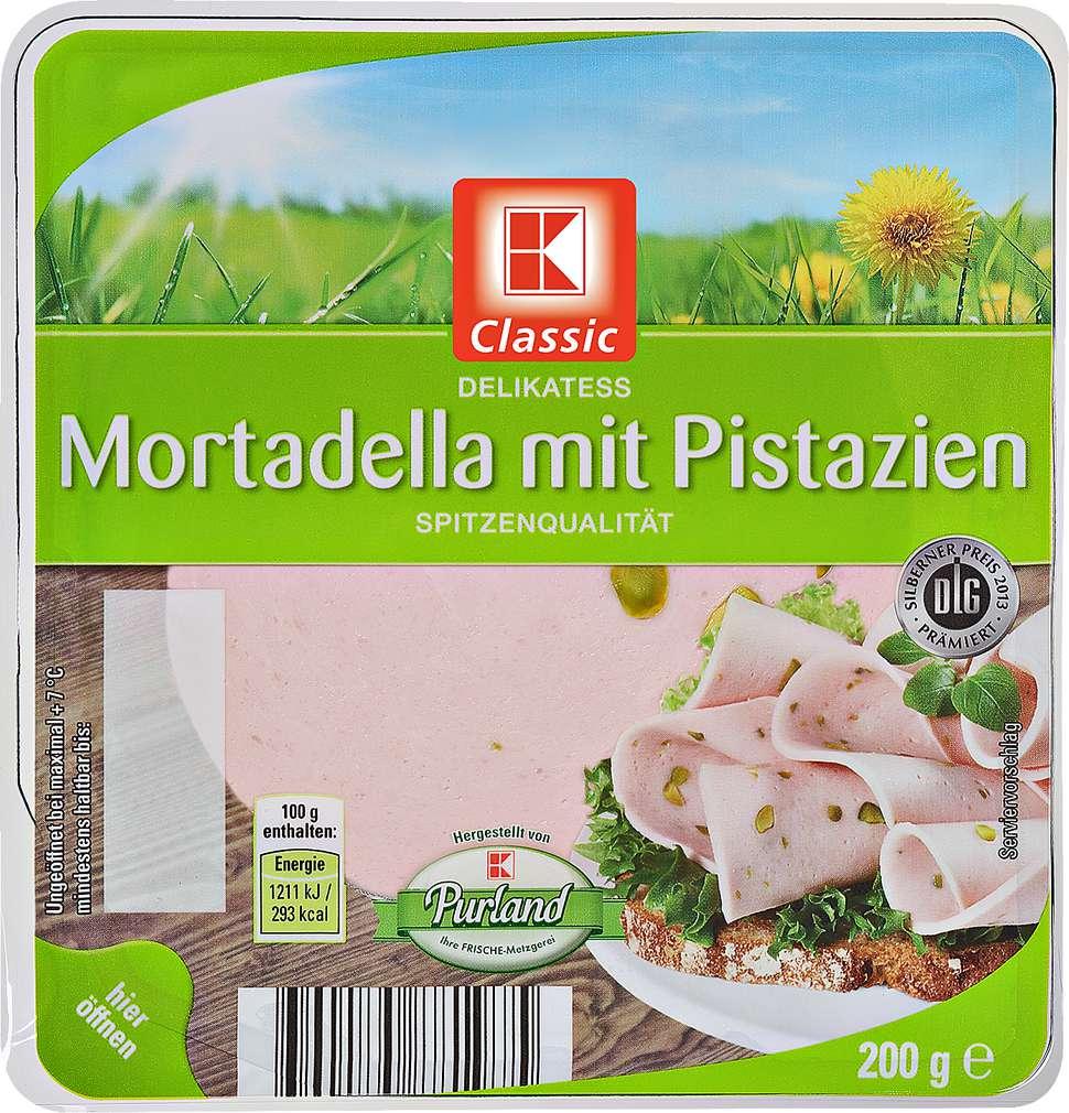 Abbildung des Sortimentsartikels K-Classic Delikatess Mortadella mit Pistazien 200g
