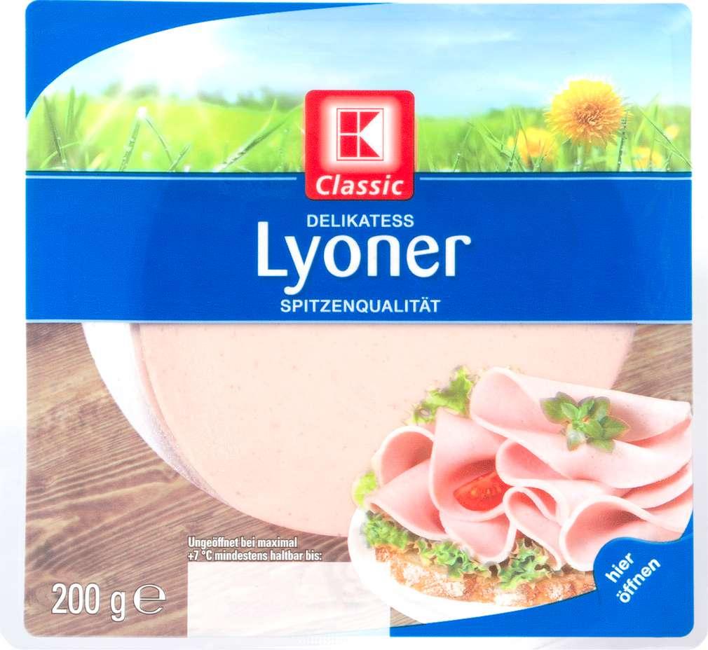 Abbildung des Sortimentsartikels K-Classic Delikatess Lyoner 200g
