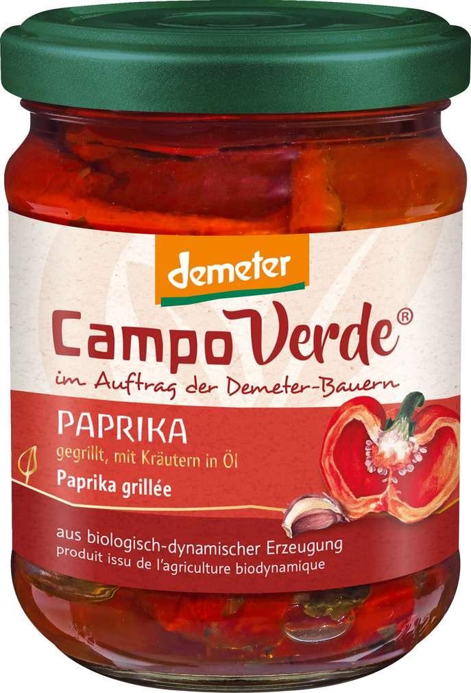 Abbildung des Sortimentsartikels Campo Verde Demeter gegrillte Paprika in Öl