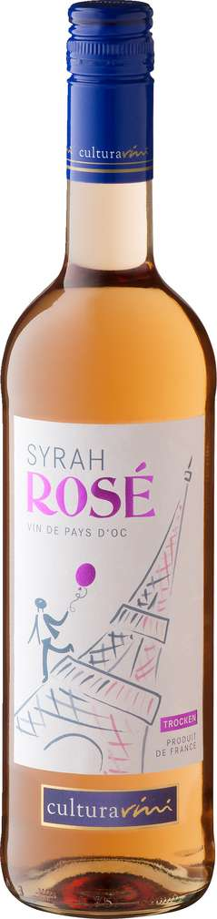 Abbildung des Sortimentsartikels Cultura Vini Syrah rosé trocken 0,75l