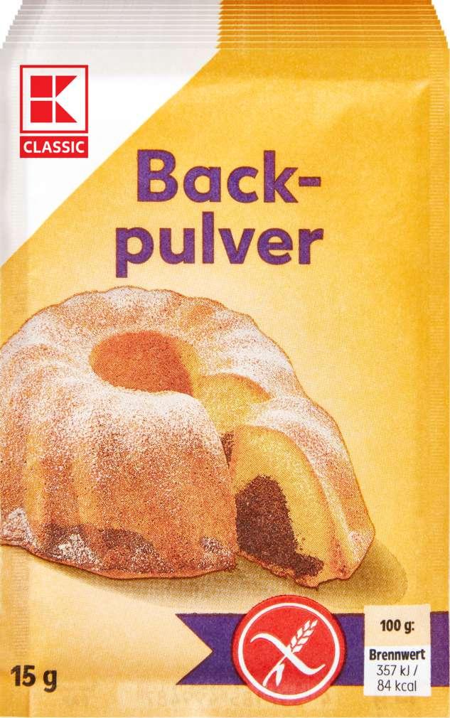 Abbildung des Sortimentsartikels K-Classic Backpulver glutenfrei 10 Stück