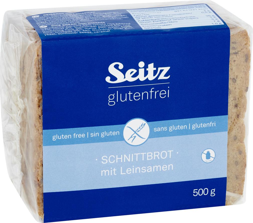 Abbildung des Sortimentsartikels Seitz glutenfrei Schnittbrot mit Leinsamen glutenfrei 500g