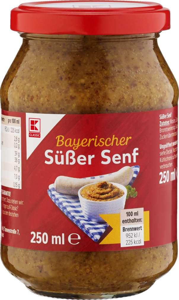 Abbildung des Sortimentsartikels K-Classic Süßer Senf Hausmacher 250ml