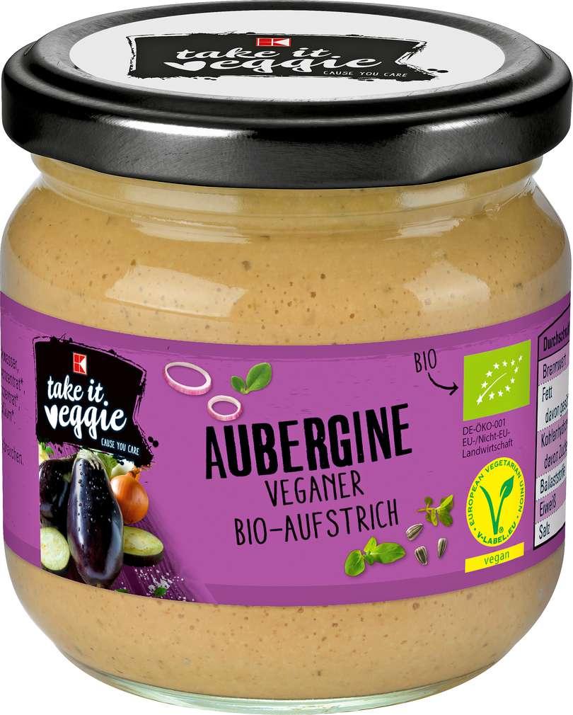 Abbildung des Sortimentsartikels K-Take it Veggie Bio Aufstrich Aubergine 180g