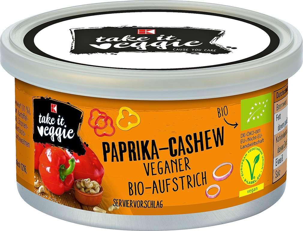 Abbildung des Sortimentsartikels K-Take it Veggie Aufstrich Paprika-Cashew 125g