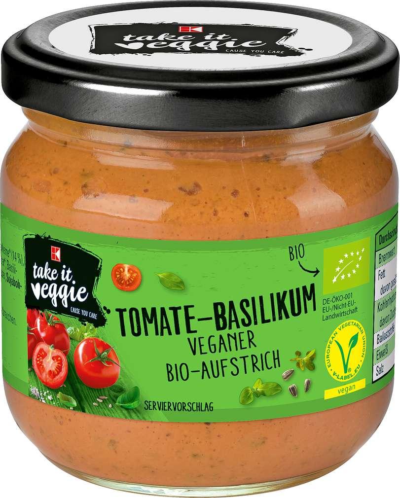 Abbildung des Sortimentsartikels K-Take it Veggie Aufstrich Tomate-Basilikum 180g