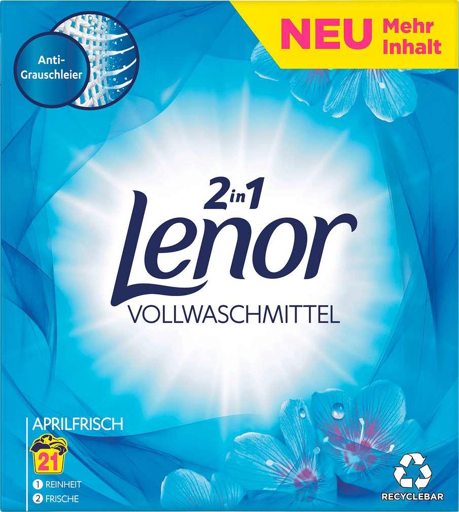 Abbildung des Sortimentsartikels Lenor Vollwaschmittel Aprilfrisch 21WL-1,365kg