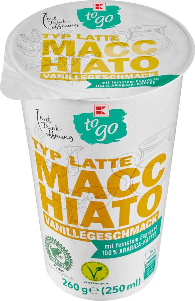 Abbildung des Sortimentsartikels K-To Go Latte Macchiato Vanille 250ml