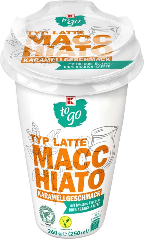 Abbildung des Sortimentsartikels K-To Go Cafe Allegro Latte Macchiato  Karamell 250ml