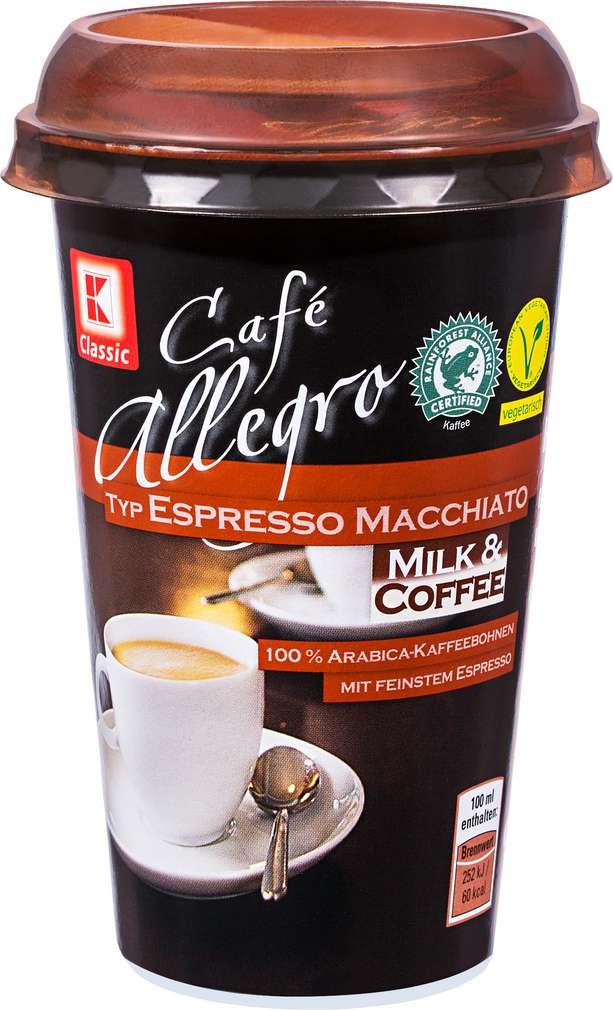 Abbildung des Sortimentsartikels K-Classic Café Allegro Espresso Macchiato 250ml
