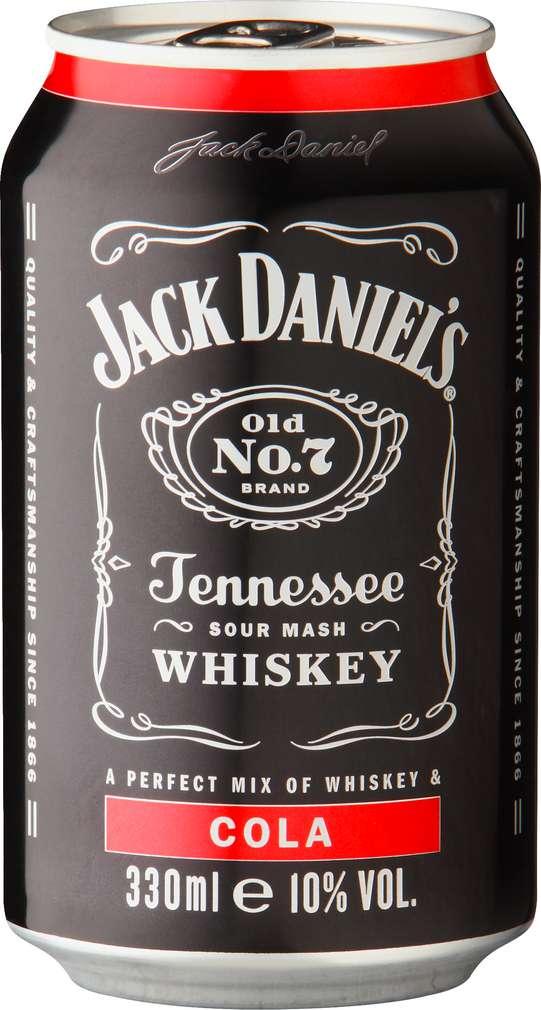 Abbildung des Sortimentsartikels Jack Daniel's Tennessee Whiskey & Cola 0,33l