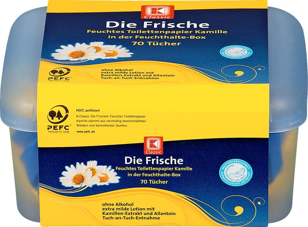 Abbildung des Sortimentsartikels K-Classic Feuchtes Toilettenpapier Kamille 70 Tücher