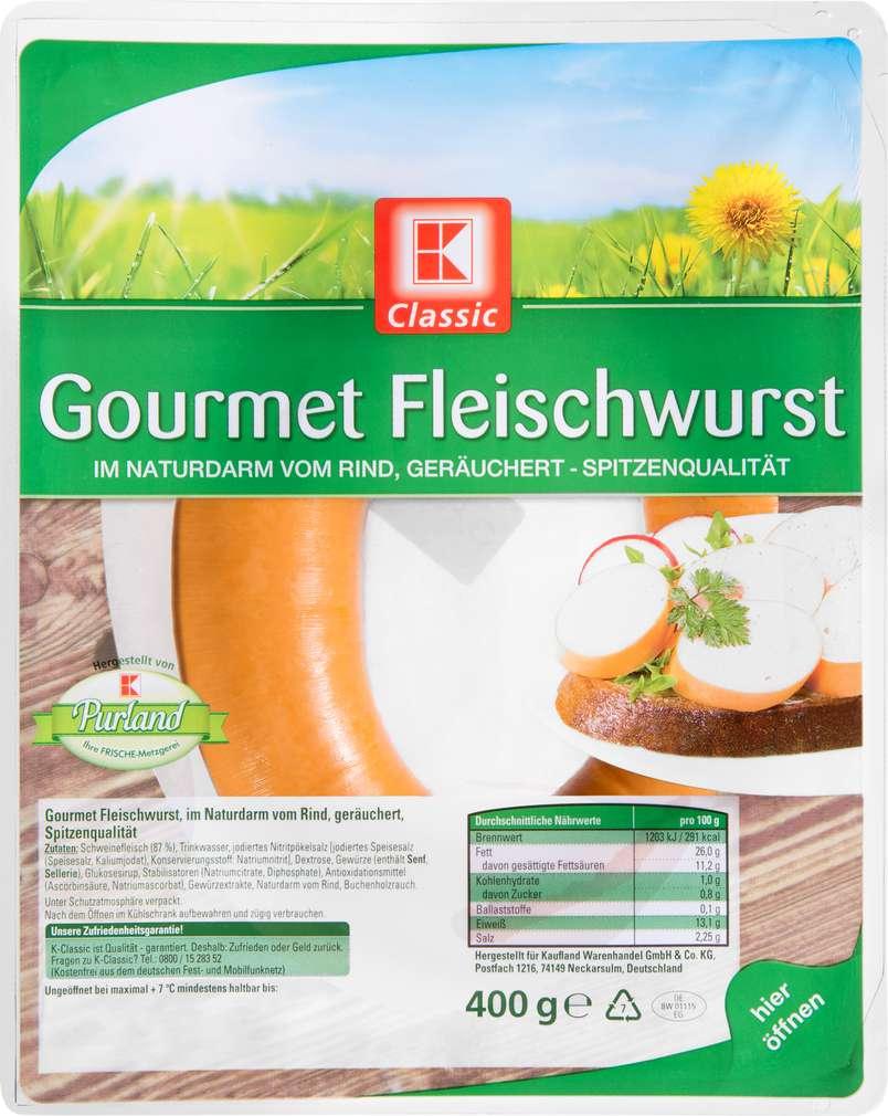 Abbildung des Sortimentsartikels K-Classic Gourmet Fleischwurst 400g