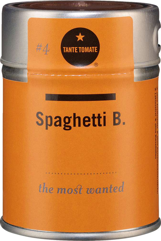 Abbildung des Sortimentsartikels Tante Tomate Spaghetti B. - the most wanted 60g