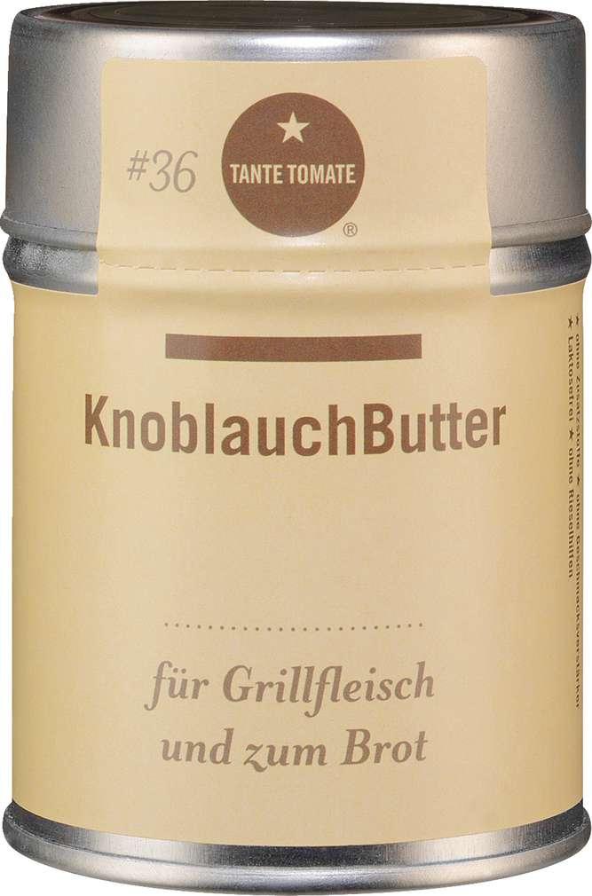 Abbildung des Sortimentsartikels Tante Tomate KnoblauchButter - für Grillfleisch und zum Brot 60g
