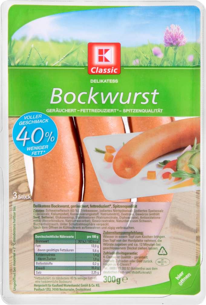 Abbildung des Sortimentsartikels K-Classic Delikatess Bockwurst 300g