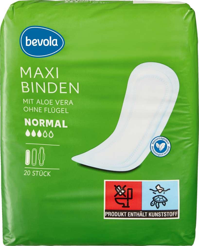 Abbildung des Sortimentsartikels Bevola Maxibinde Normale & Aloe Vera 20 Stück