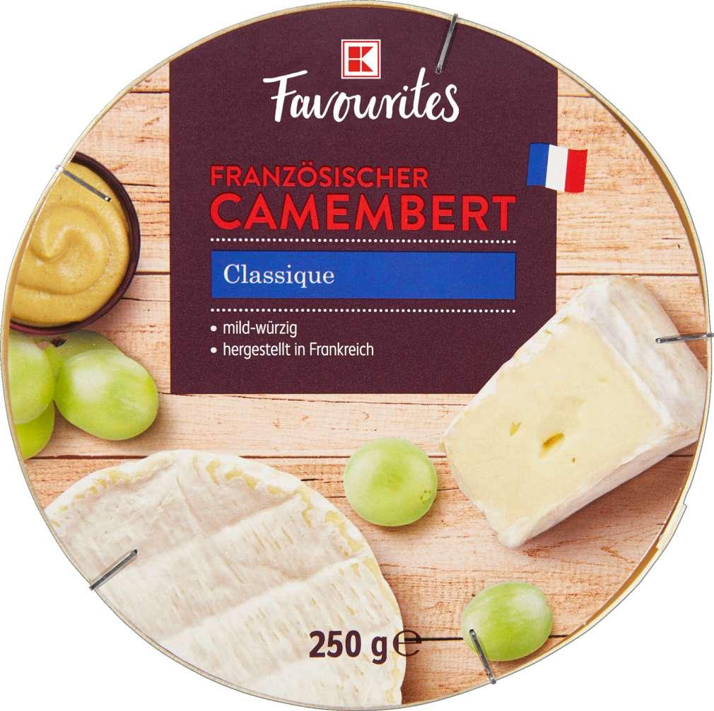 Abbildung des Sortimentsartikels K-Favourites Camembert Classique 45% Fett i.Tr. 250g