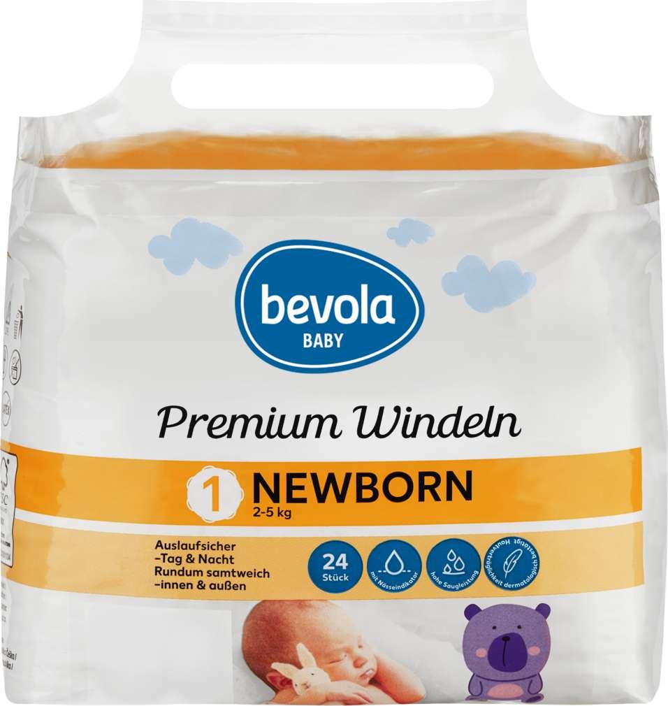 Abbildung des Sortimentsartikels Bevola Baby Windeln Newborn 24 Stück