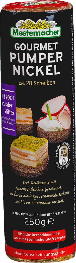Abbildung des Sortimentsartikels Mestemacher Gourmet Pumpernickel 250g