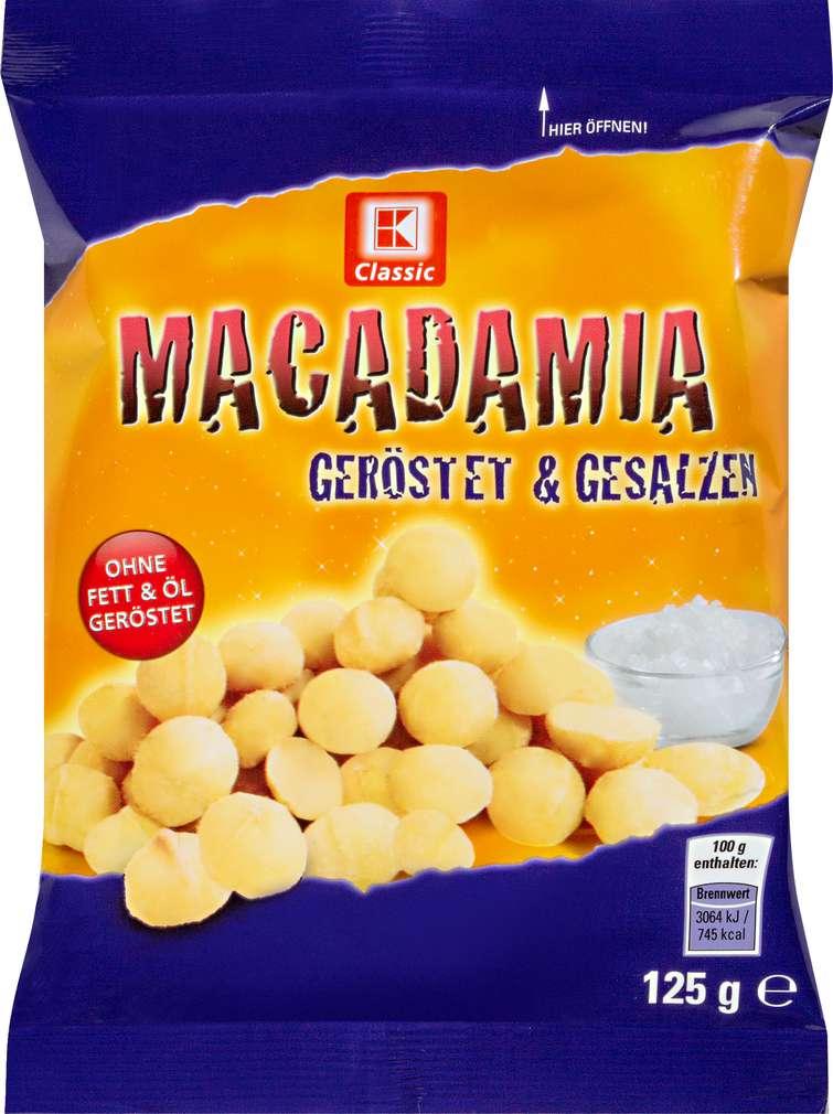 Abbildung des Sortimentsartikels K-Classic Macadamia-Nusskerne geröstet & gesalzen 125g