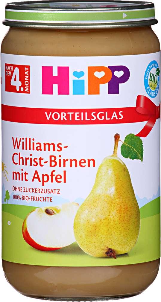 Abbildung des Sortimentsartikels Hipp Williams-Christ-Birnen mit Apfel 250g